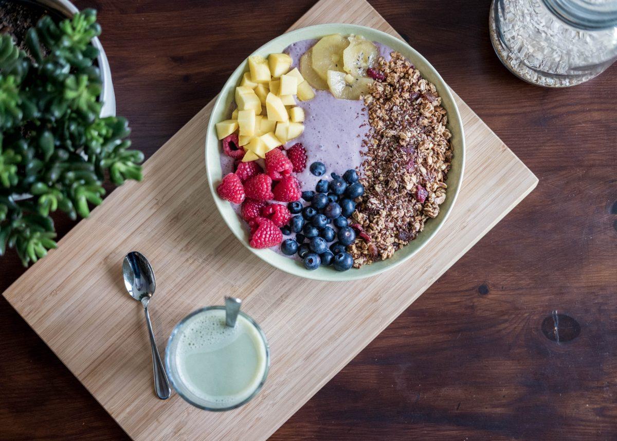 Acai Yogurt Bowl with fruit and granola